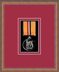 Military Medal Frame – M1-14C Teak-Beaujolais Mount