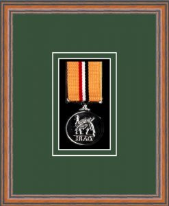 Military Medal Frame – M1-14C Teak-Forest Green Mount