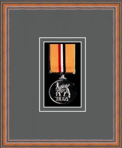 Military Medal Frame – M1-14C Teak-Grey Mount