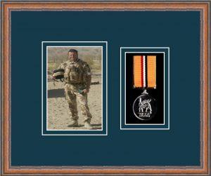 Military Medal Frame – M1PH-14C Teak-Nightshade Mount