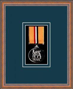 Military Medal Frame – M1-14C Teak-Nightshade Mount