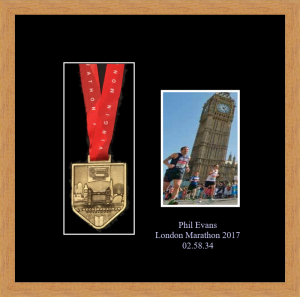 Personalised London marathon medal picture frame
