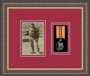 Military Medal Frame – M1PH-45F Mahogany-Beaujolais Mount