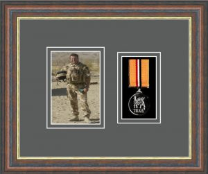 Military Medal Frame – M1PH-45F Mahogany-Grey Mount