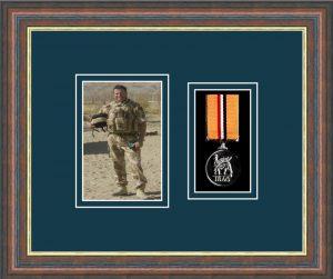 Military Medal Frame – M1PH-45F Mahogany-Nightshade Mount