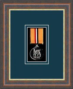 Military Medal Frame – M1-45F Mahogany-Nightshade Mount