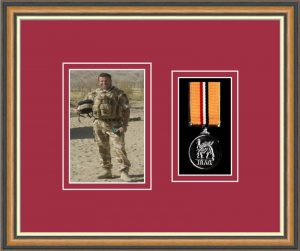 Military Medal Frame – M1PH-49H Walnut-Beaujolais Mount