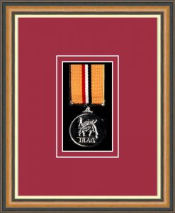 Military Medal Frame – M1-49H Walnut-Beaujolais Mount