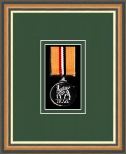 Military Medal Frame – M1-49H Walnut-Forest Green Mount