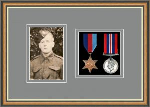 Military Medal Frame – M2PH-49H Walnut-Grey Mount