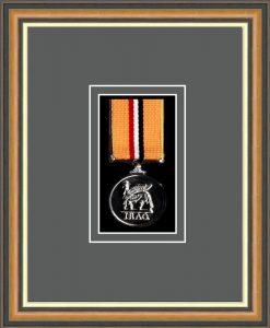 Military Medal Frame – M1-49H Walnut-Grey Mount