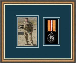 Military Medal Frame – M1PH-49H Walnut-Nightshade Mount