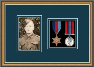 Military Medal Frame – M2PH-49H Walnut-Nightshade Mount