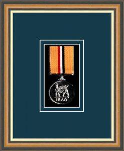Military Medal Frame – M1-49H Walnut-Nightshade Mount