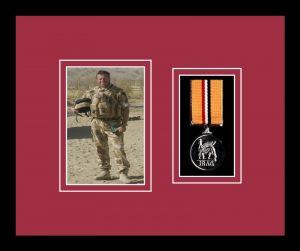 Military Medal Frame – M1PH-77i Black-Beaujolais Mount