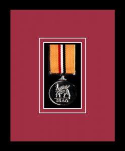 Military Medal Frame – M1-77i Black-Beaujolais Mount