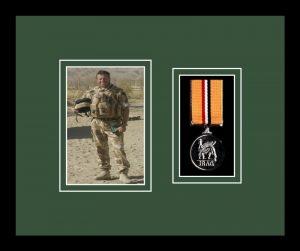 Military Medal Frame – M1PH-77i Black-Forest Green Mount