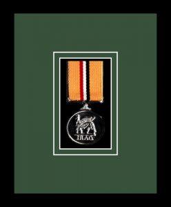 Military Medal Frame – M1-77i Black-Forest Green Mount