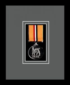 Military Medal Frame – M1-77i Black-Grey Mount