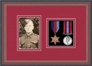 Military Medal Frame – M2PH-78F Dark Walnut-Beaujolais Mount