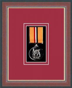 Military Medal Frame – M1-78F Dark Walnut-Beaujolais Mount