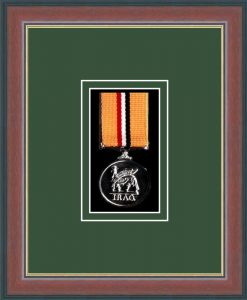 Military Medal Frame – M1-78F Dark Walnut-Forest Green Mount