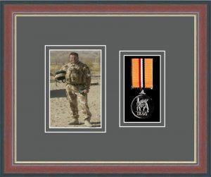 Military Medal Frame – M1PH-78F Dark Walnut-Grey Mount
