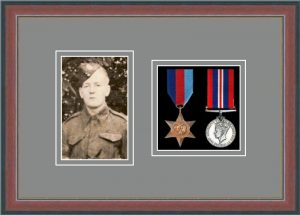 Military Medal Frame – M2PH-78F Dark Walnut-Grey Mount