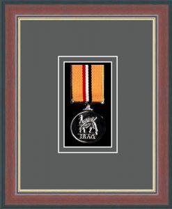 Military Medal Frame – M1-78F Dark Walnut-Grey Mount