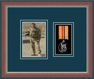 Military Medal Frame – M1PH-78F Dark Walnut-Nightshade Mount