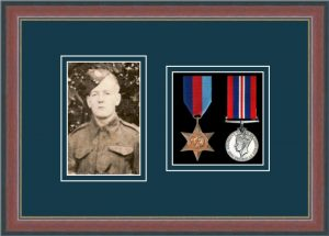 Military Medal Frame – M2PH-78F Dark Walnut-Nightshade Mount