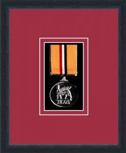 Military Medal Frame – M1-84D Black-Beaujolais Mount