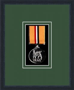 Military Medal Frame – M1-84D Black-Forest Green Mount