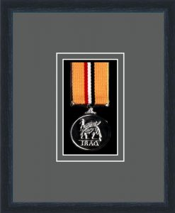 Military Medal Frame – M1-84D Black-Grey Mount