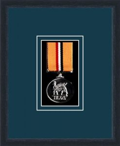 Military Medal Frame – M1-84D Black-Nightshade Mount