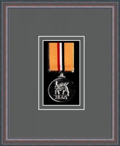 Military Medal Frame – M1-8C Oak-Grey Mount