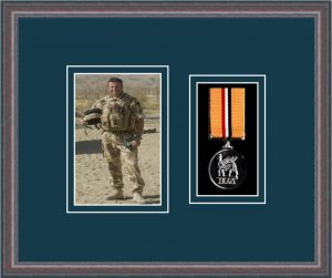 Military Medal Frame – M1PH-8C Oak-Nightshade Mount