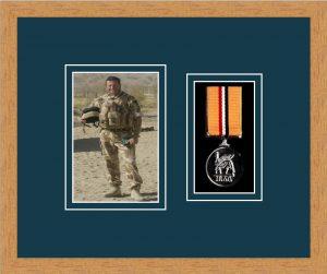 Military Medal Frame – M1PH-98F Light Woodgrain-Nightshade Mount