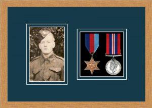 Military Medal Frame – M2PH-98F Light Woodgrain-Nightshade Mount