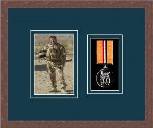 Military Medal Frame – M1PH-99F Dark Woodgrain-Nightshade Mount