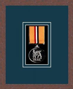 Military Medal Frame – M1-99F Dark Woodgrain-Nightshade Mount