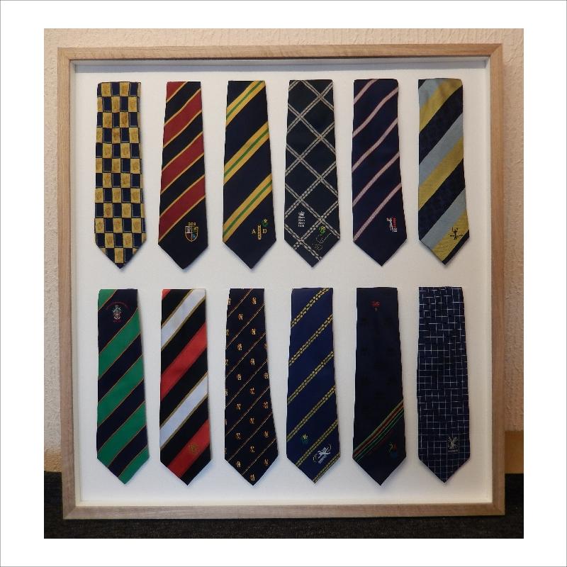 Framed cricket club ties