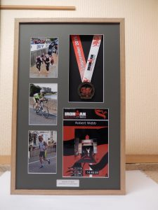 Iron Man Wales medal display frame.