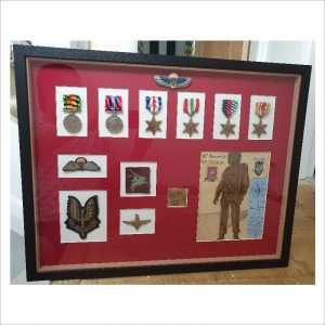 Custom made military medal frame