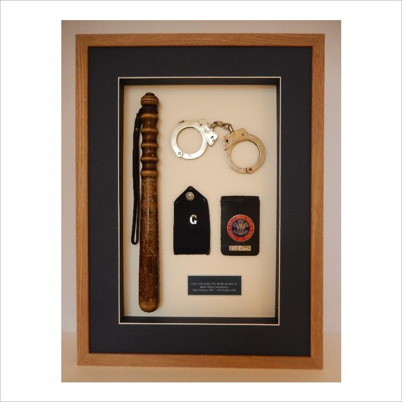 Framed Police Memorabilia
