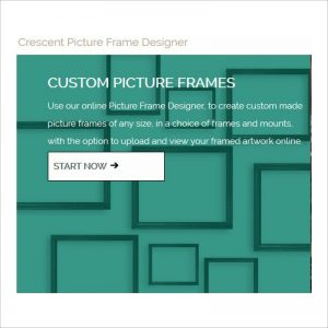Picture frame designer home page