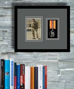 Pictur frame for one military medal and photo