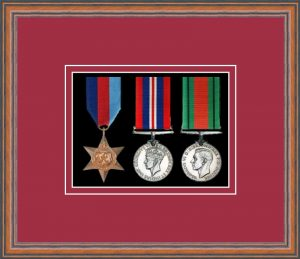 Military Medal Frame – M3-14C Teak-Beaujolais Mount