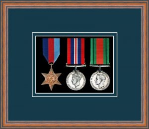 Military Medal Frame – M3-14C Teak-Nightshade Mount