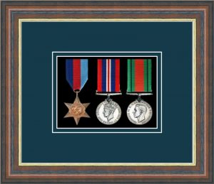 Military Medal Frame – M3-45F Mahogany-Nightshade Mount